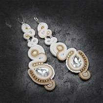 Wedding soutache earrings - Petalos