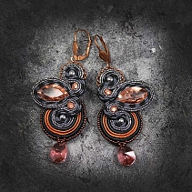 Soutache earrings - Pelirrojo