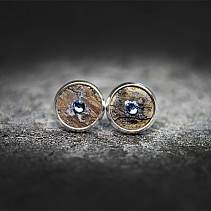 Industrial earrings - Groder blue
