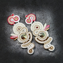 Wedding Soutache earrings - Pajaro Japones