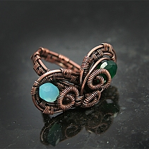 Coppery ring - Butterfly