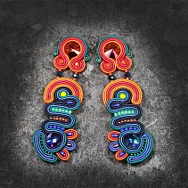 Soutache earrings - Verano peruano